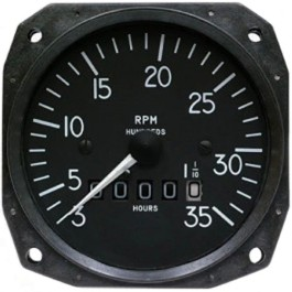 "MITCHELL MECHANICAL 3 1/8"" TACHOMETER D1-112-5024"