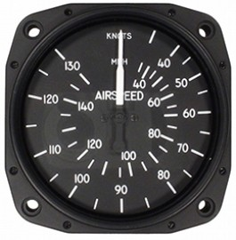 UNITED INSTRUMENTS AIRSPEED INDICATOR 8000-B463