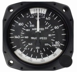 UNITED INSTRUMENTS TRUE AIRSPEED INDICATOR 8100-B570