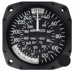 UNITED INSTRUMENTS TRUE AIRSPEED INDICATOR 8125-B178