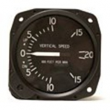 UNITED INSTRUMENTS VERTICAL SPEED INDICATOR 7000-C32-OH