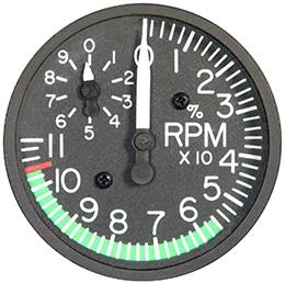 RC ALLEN TACHOMETER RCA41A-09