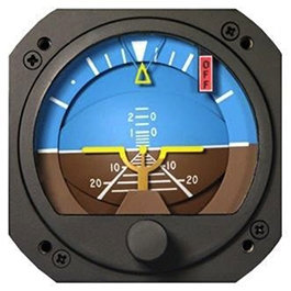 RC ALLEN VACUUM ATTITUDE INDICATOR RCA22-11F