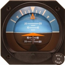 MID-CONTINENT ELECTRIC ATTITUDE INDICATOR 4300-313