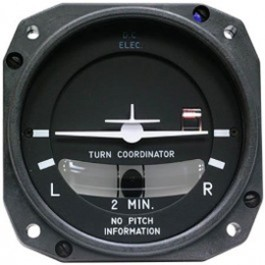 MID-CONTINENT INSTRUMENTS TURN COORDINATOR 1394T100-12RB