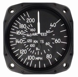 UNITED INSTRUMENTS AIRSPEED INDICATOR 8000-B166