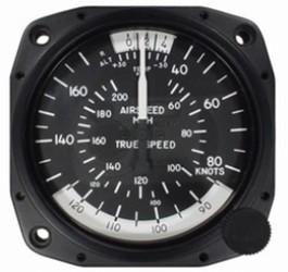 UNITED INSTRUMENTS TRUE AIRSPEED INDICATOR 8100-B570