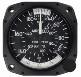 UNITED INSTRUMENTS TRUE AIRSPEED INDICATOR 8100-B96