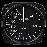 UNITED INSTRUMENTS AIRSPEED INDICATOR 8000-B1