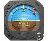 RC ALLEN ELECTRIC ATTITUDE INDICATOR RCA26EK-13