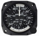 UNITED INSTRUMENTS TRUE AIRSPEED INDICATOR 8100-B96
